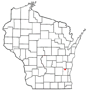 Location of Kewaskum (town), Wisconsin