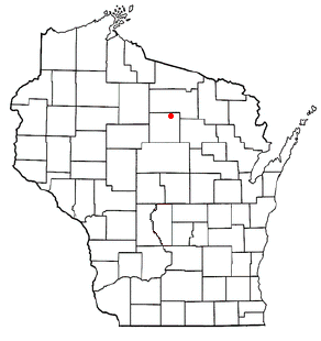 Location of King, Wisconsin