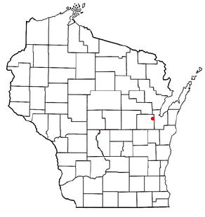 Location of Oneida (town), Wisconsin