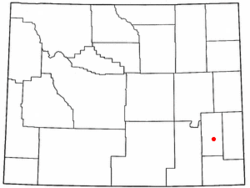 Carte du comté de Wheatland