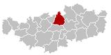 Wavre Brabant-Wallon Belgium Map.png
