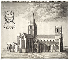 Wenceslas Hollar's engraving of the cathedral in the 17th century.