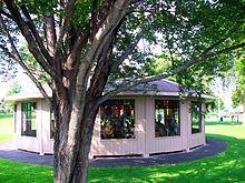 A carousel in West Endicott Park.