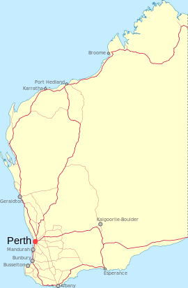 Derby is located in Western Australia