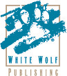 The logo of White Wolf Publishing, one of White Wolf, Inc.'s company names.