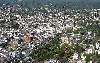 Aerial view of Wiesbaden