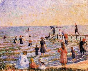 William Glackens - Bathing at Bellport, Long Island.JPG