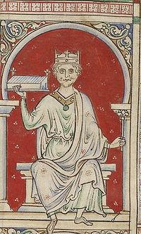 William Rufus depicted in the Stowe Manuscript