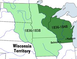Location of Wisconsin Territory
