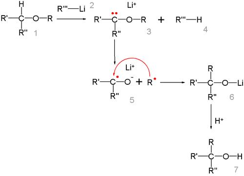 The 1,2-Wittig rearrangement reaction mechanism