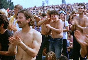La foule au festival de Woodstock (photographie)