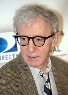 Woody Allen wearing black frame glasses