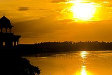Sunset at Yamuna River