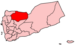 Map of Yemen showing Al Jawf governorate.