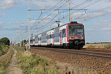 Passage d'une Z 20500 entre Boisseaux et Toury à destination du Technicentre de Saint-Pierre-des-Corps pour rénovation.