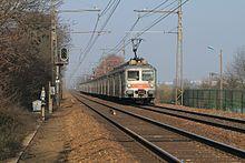 Passage de la Z 5316 en mars 2011 à destination de Rambouillet au PK 36,7.