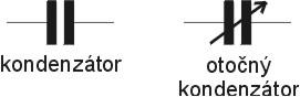 Elektrotechnické značky kondezátoru