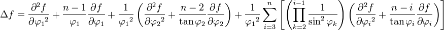 \begin{align} \Delta f 
