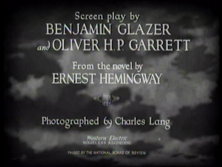A Farewell to Arms (1932 film) title sequence.ogv