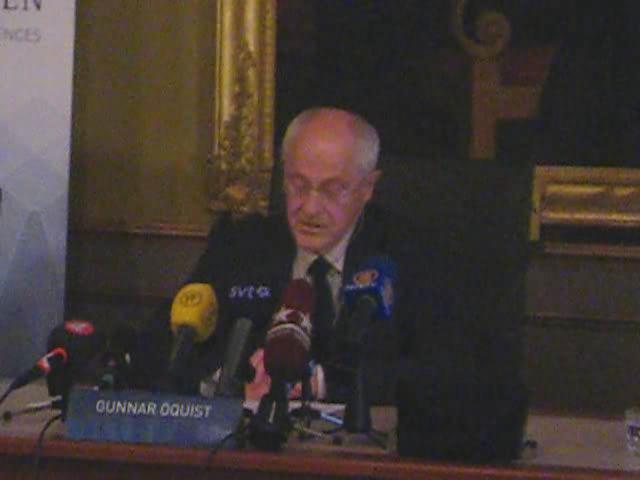 Announcement Nobelprize Chemistry 2009-3.ogv