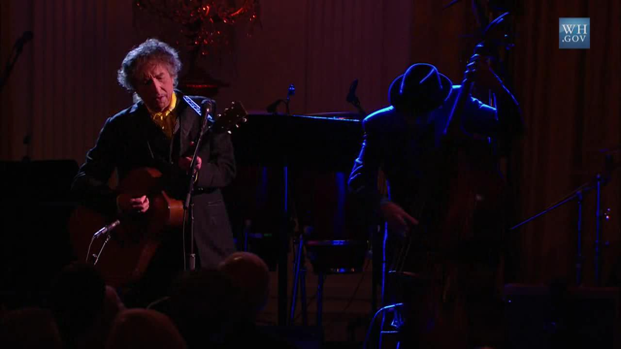 Bob Dylan performs The Times they are a Changin' at the White House.ogv
