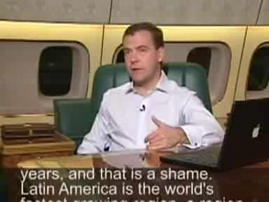 Dmitry Medvedev videoblog 30 November 2008.ogg
