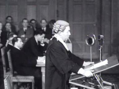 Eerste na-oorlogse zitting van het Internationaal Hof van Justititie Weeknummer 48-09 - Open Beelden - 30541.ogv
