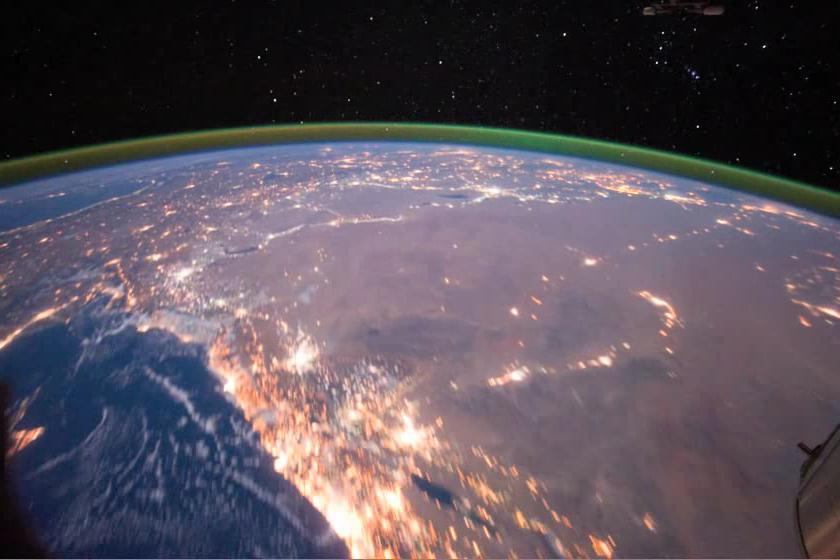 Evening Pass over the Sahara Desert and the Middle East.ogv