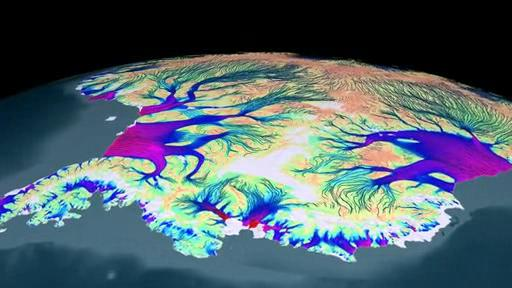 Flow of Ice Across Antarctica.ogv