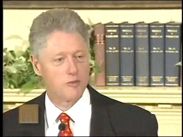 Response to the Lewinsky Allegations (January 26, 1998) Bill Clinton.ogv