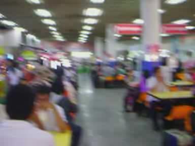 Standing for Thai National Anthem, Mo chit Bus Terminal, Bangkok, Thailand.OGG